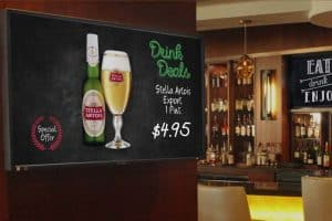 Digital sign in bar
