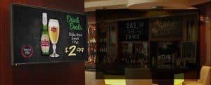 Digital signage in Bar