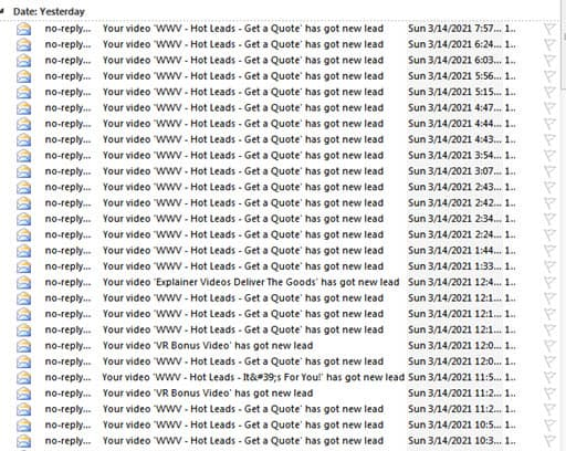 Super Hero Ads - email results
